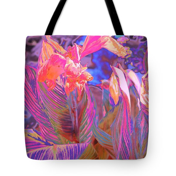 Canna Abstract 9 Tote Bag
