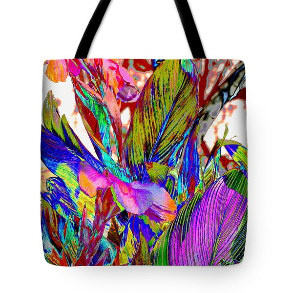 Tote Bag featuring the photograph Canna Abstract by M Diane Bonaparte