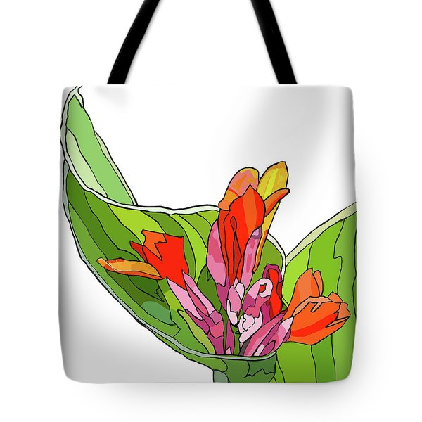 Canna Bud Tote Bag by Jamie Downs