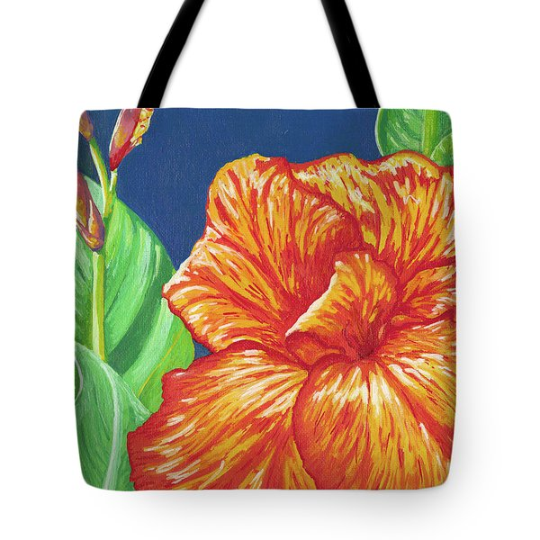 Canna Flower Tote Bag by Adam Johnson