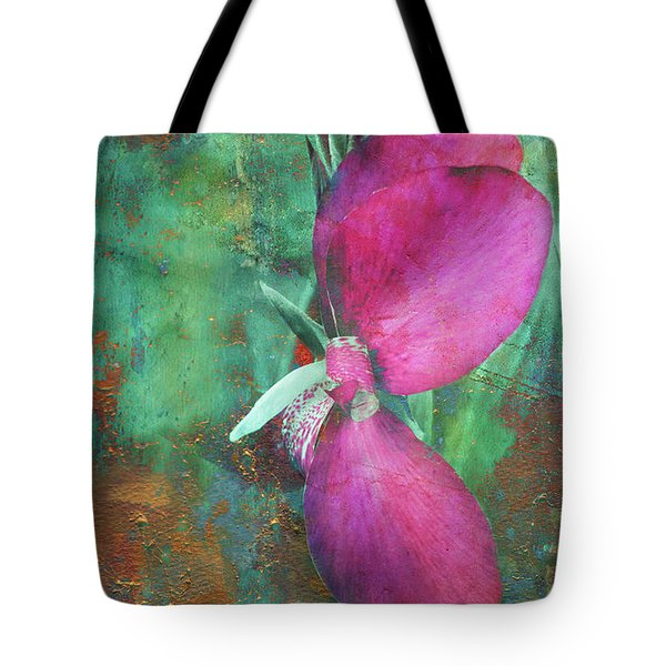 Tote Bag featuring the digital art Canna Grunge by Greg Sharpe