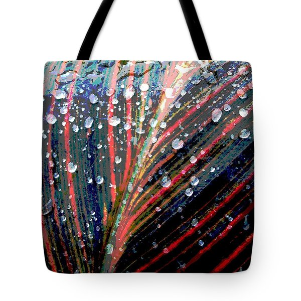 Canna Lily Leaf Tote Bag by Steve Rudolph