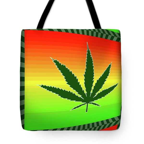 Tote Bag featuring the mixed media Cannabis  by Dan Sproul