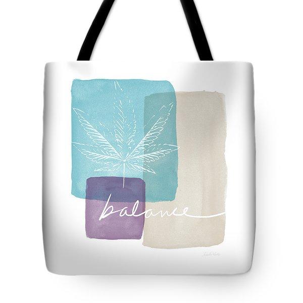 Cannabis Leaf Watercolor 3- Art By Linda Woods Tote Bag by Linda Woods