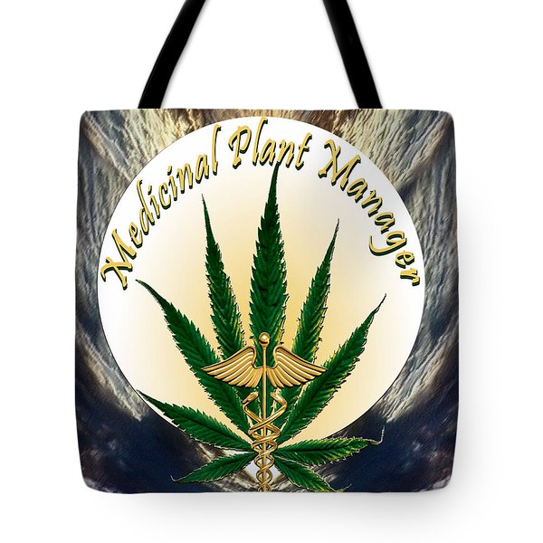 Cannabis Medicinal Plant Tote Bag