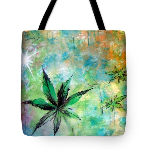 Cannabis Sativa Leaf - 02 Tote Bag