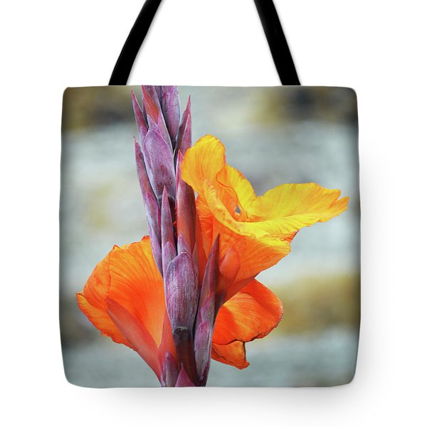 Tote Bag featuring the photograph Cannas by Terence Davis