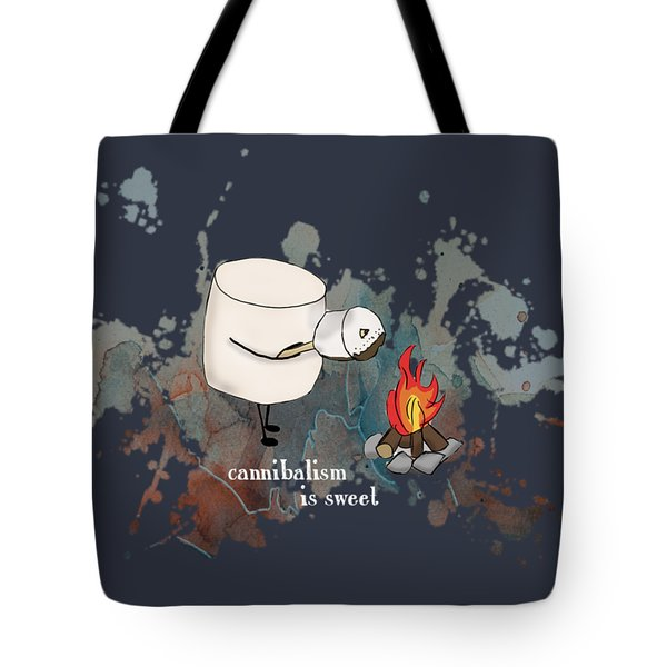 Cannibalism Is Sweet Illustrated Tote Bag by Heather Applegate