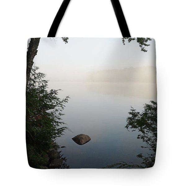 Canning Lake Mist Tote Bag