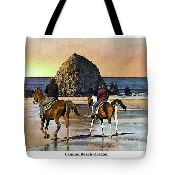 Tote Bag featuring the photograph Cannon Beach by Kenneth De Tore