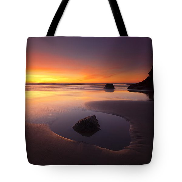 Cannon Beach Sunset Tote Bag by Mike  Dawson