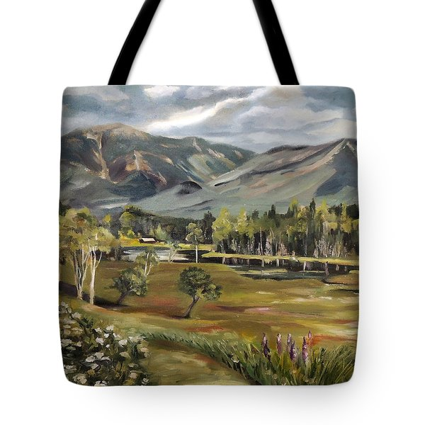 Cannon Mountain From Sugar Hill New Hampshire Tote Bag