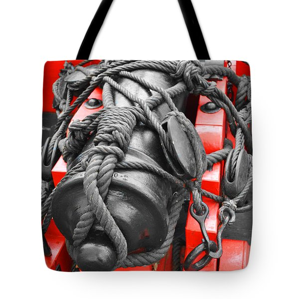 Cannon Red Tote Bag