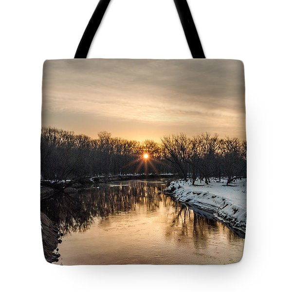 Tote Bag featuring the photograph Cannon River Sunrise by Dan Traun
