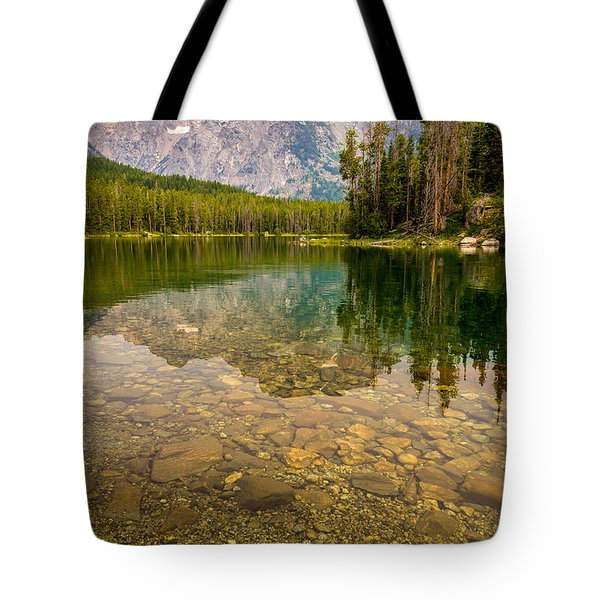 Tote Bag featuring the photograph Canoe Camping In The Teton Range by Serge Skiba