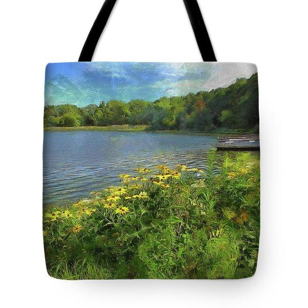 Canoe Number 9 Tote Bag by Cedric Hampton