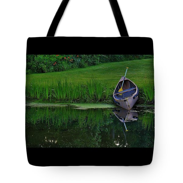 Canoe Reflection Tote Bag
