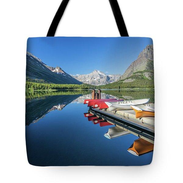 Canoe Reflections Tote Bag