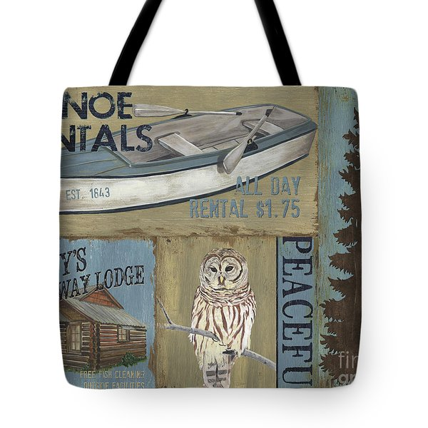 Canoe Rentals Lodge Tote Bag