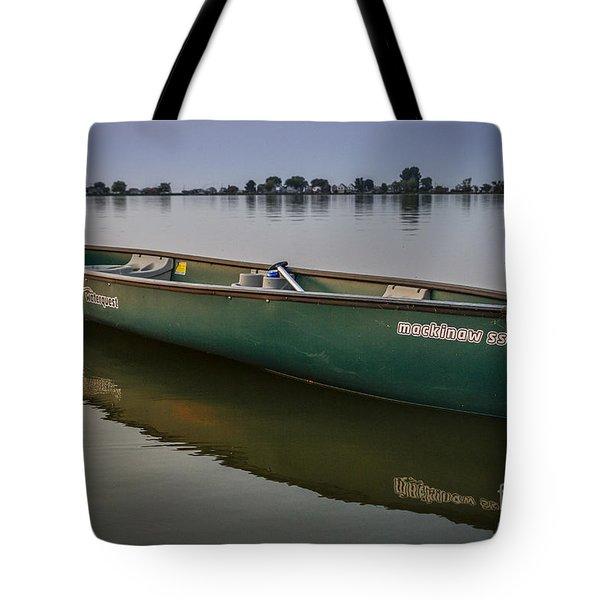 Canoe Stillness Tote Bag
