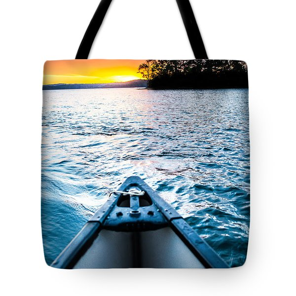 Canoeing In Paradise Tote Bag