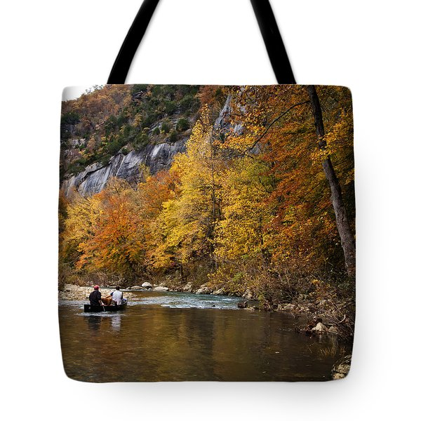 Canoeing The Buffalo River At Steel Creek Tote Bag