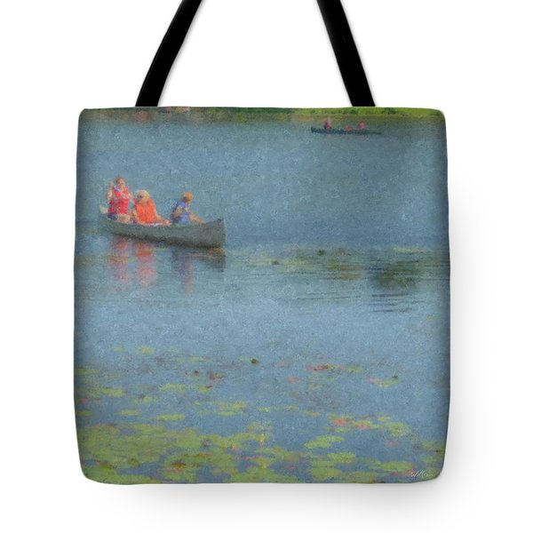 Canoes On Shovelshop Pond Tote Bag
