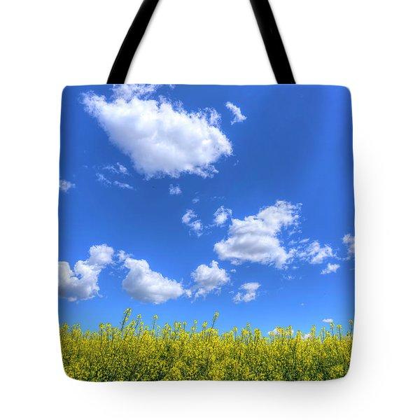 Canola Skies Tote Bag