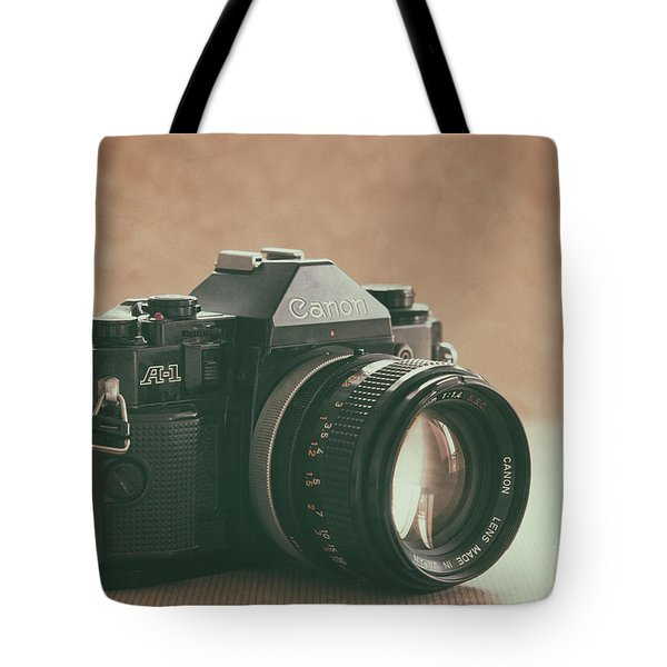 Tote Bag featuring the photograph Canon A1 by Ana V Ramirez