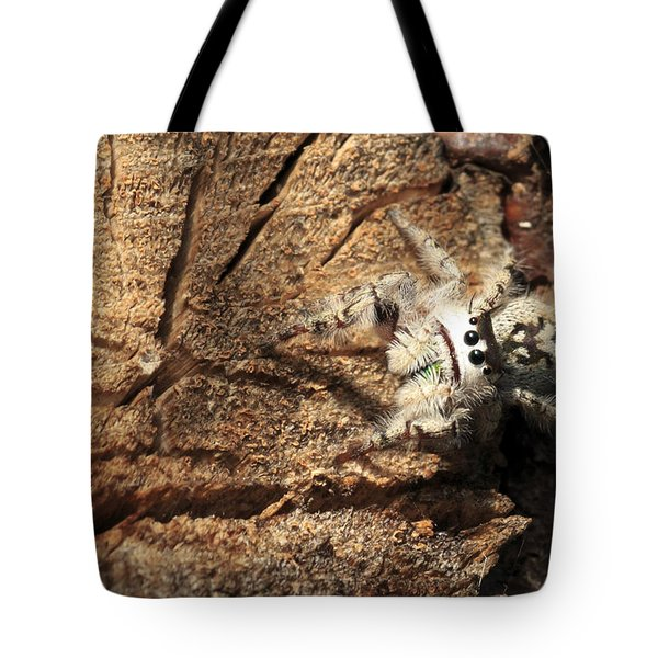 Canopy Jumping Spider Tote Bag