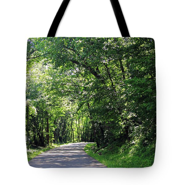 Tote Bag featuring the photograph Canopy Of Trees by Angela Murdock