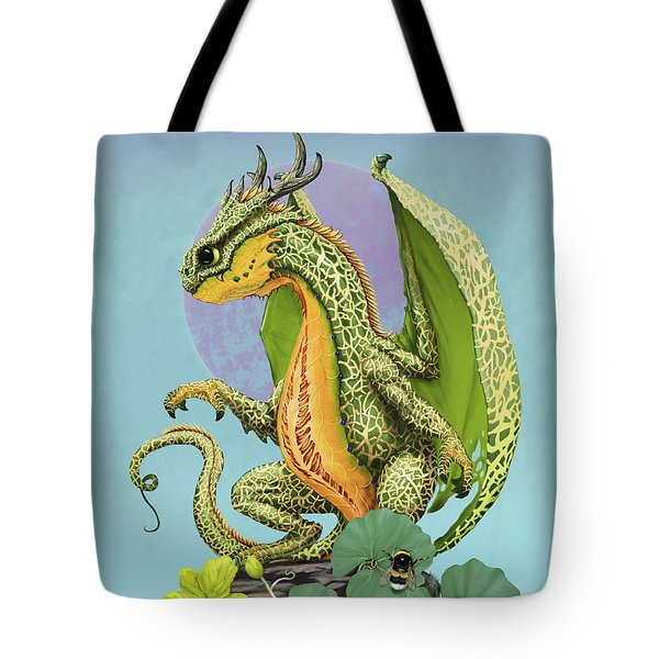 Tote Bag featuring the digital art Cantaloupe Dragon by Stanley Morrison