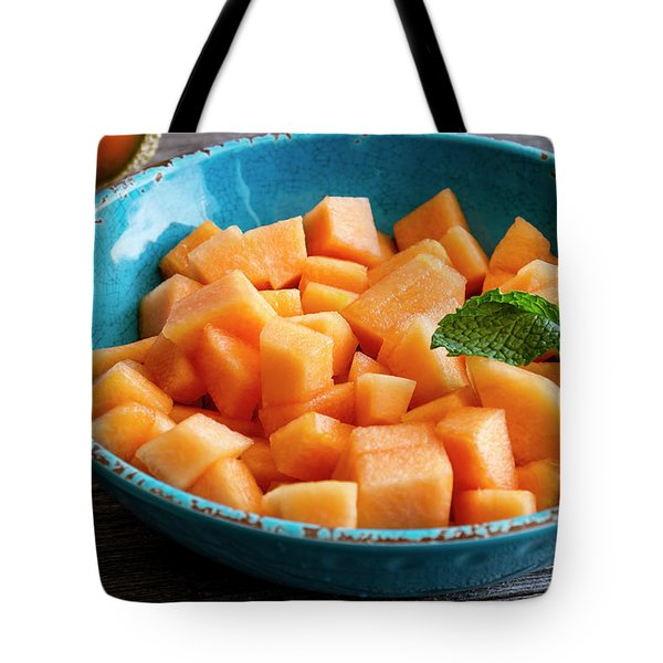 Cantaloupe For Breakfast Tote Bag