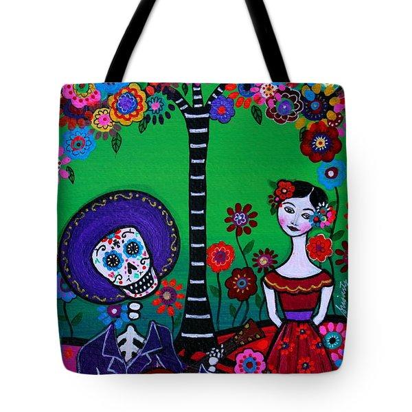 Tote Bag featuring the painting Serenata Especial Para Axl by Pristine Cartera Turkus