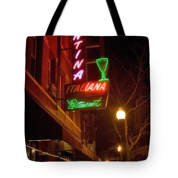 Cantina Italiana Tote Bag by Joann Vitali