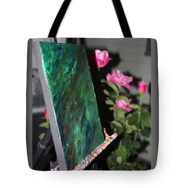 Tote Bag featuring the photograph Canvas And Roses by Vadim Levin