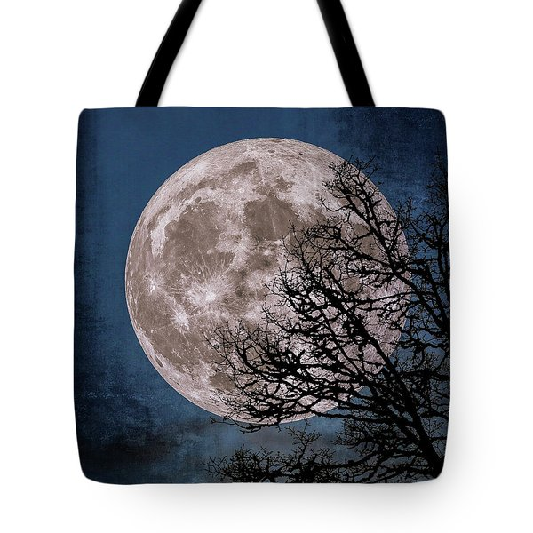 Canvas Moon Tote Bag