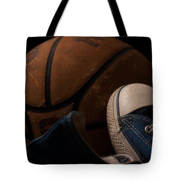 Canvas Shoes And Basketball Tote Bag