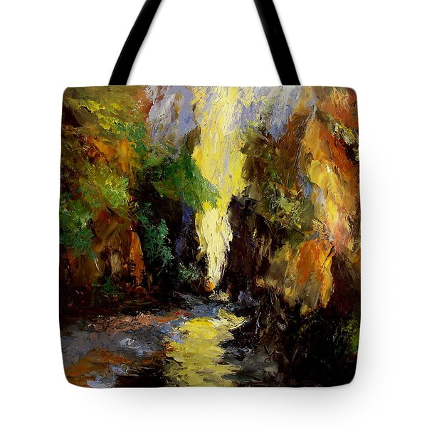 Canyon Creek Tote Bag by Gail Kirtz