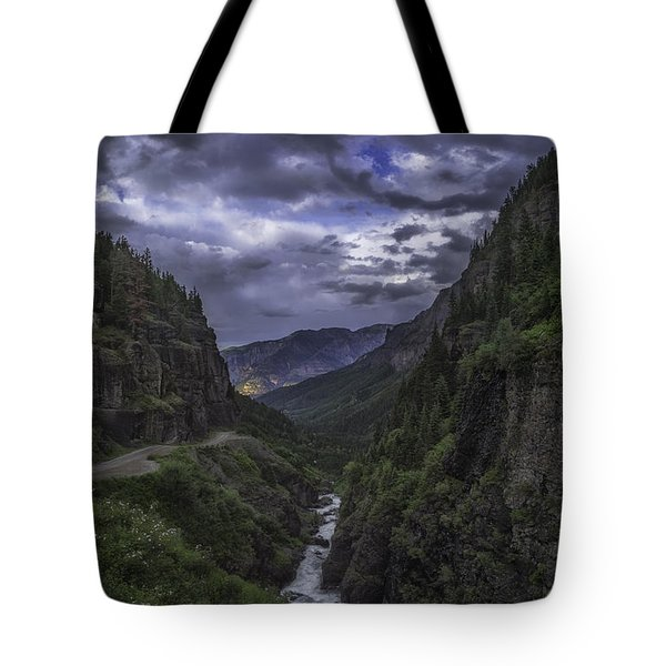 Tote Bag featuring the photograph Canyon Creek Sunset by Bitter Buffalo Photography
