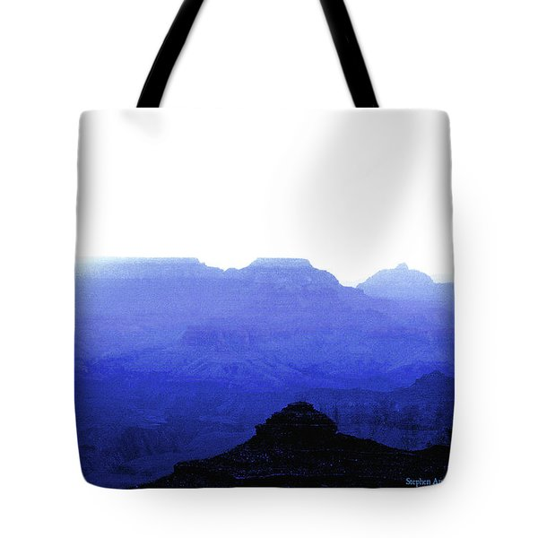 Canyon In Blue Tote Bag
