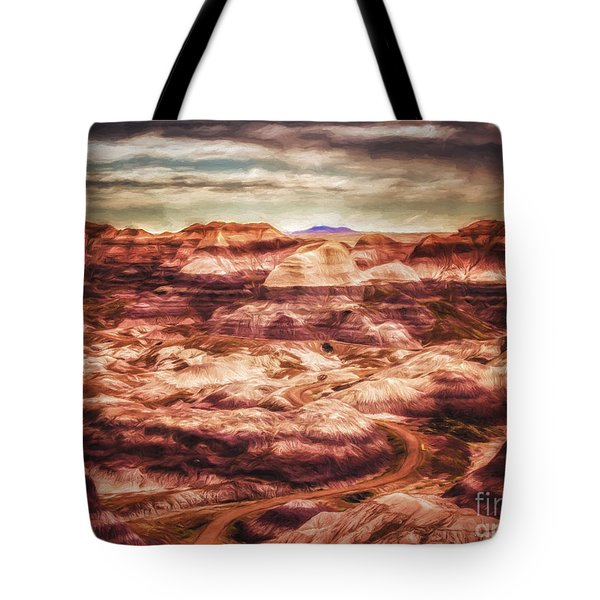 Tote Bag featuring the photograph Canyon In The Painted Desert  ... by Chuck Caramella