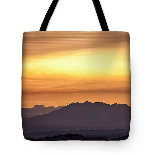 Canyon Layers With Fiery Sunrise Tote Bag