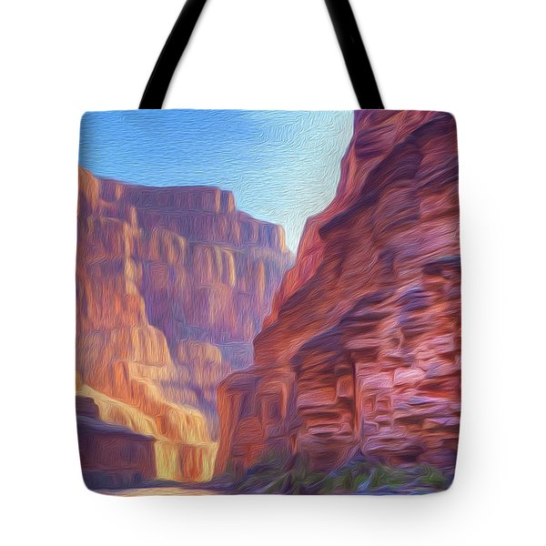 Canyon Light Tote Bag by Walter Colvin