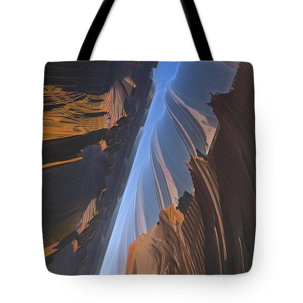 Tote Bag featuring the digital art Canyon by Lyle Hatch