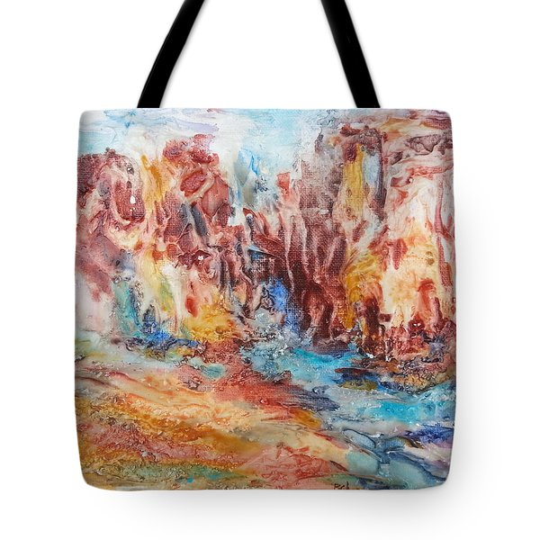 Canyon Mouth Tote Bag by Becky Chappell