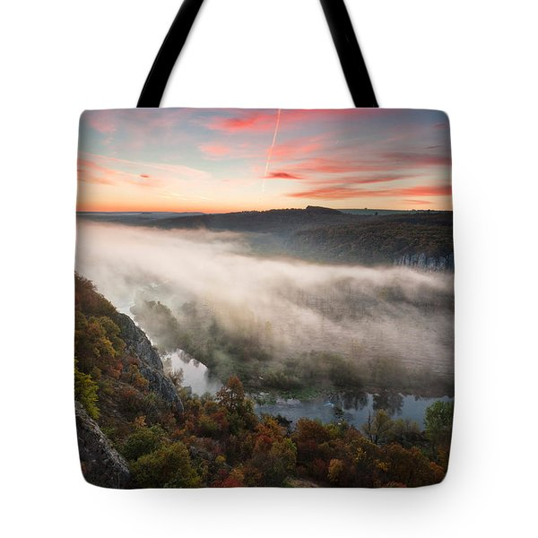Canyon Of Mists Tote Bag by Evgeni Dinev