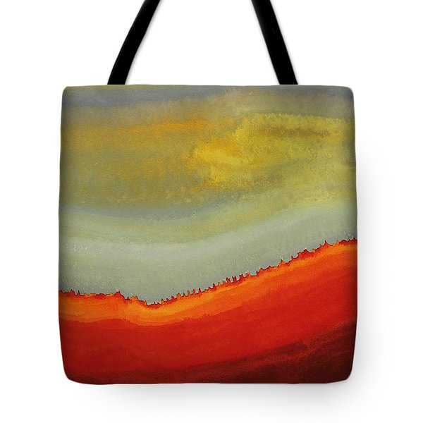 Canyon Outlandish Original Painting Tote Bag by Sol Luckman
