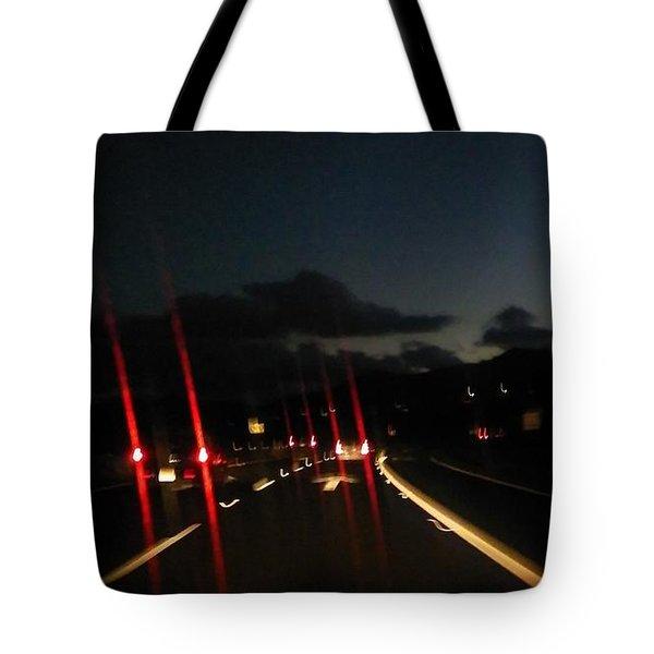 Canyon Road Winter Tote Bag