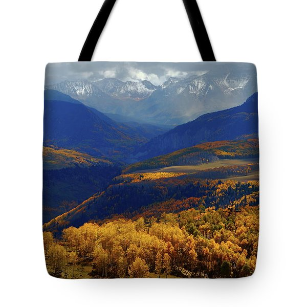 Canyon Shadows And Light From Last Dollar Road In Colorado During Autumn Tote Bag